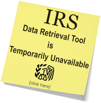 IRS Data Retrieval Tool Unavailable