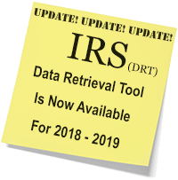 IRS Data Retrieval Tool notice